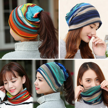 0de6e5561ed Women Winter Windproof Warm Plus Velvet Knit Hat Scarf Set with Face ...