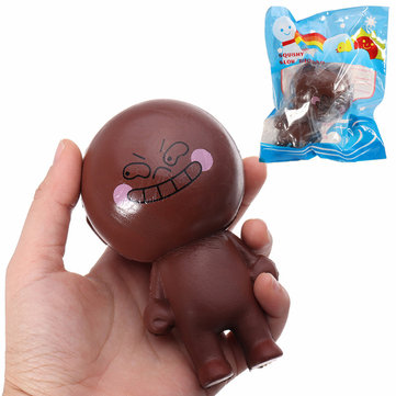 YunXin Squishy Chocolate Bad Boy Doll 11cm Soft Slow Rising With Packaging Collection Gift Decor Toy