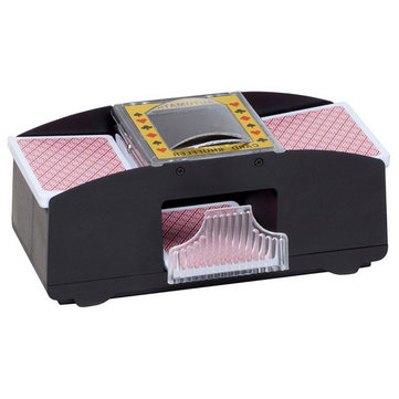 1-2 Deck Of Playing Card Poker Automatic Plastic Card Shuffler Shuffles Card Machine