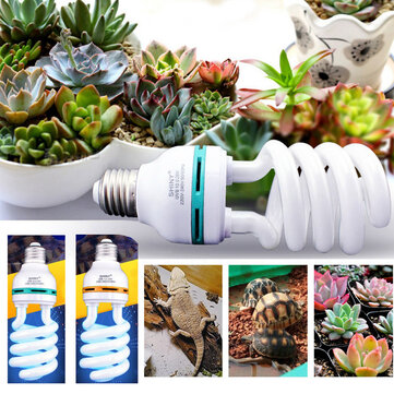 AC220V 26W E27 UVB 5.0/10.0 Reptile Ultraviolet Lamp Calcium Supply Blue Color Light Bulb for Plant