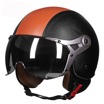 Unisex ABS Motorcycle Covered Type Electric Half helmet Air Force Safety Helmet