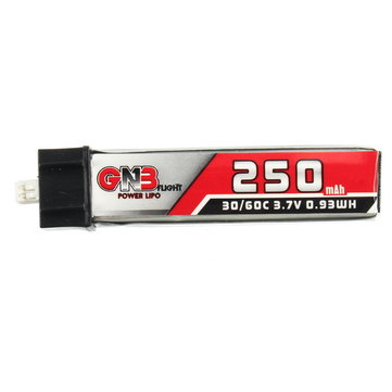 GAONENG 3.7V 250mAh 1S 30C/60C PH1.25 Plug Lipo Battery for Blade Nano QX CPX and Tiny Whoop