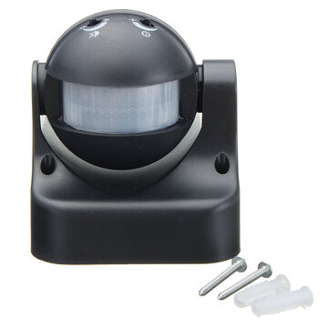 Auto PIR Motion Sensor Detector Switch Home Garden Outdoor Light Lamp Switch Black