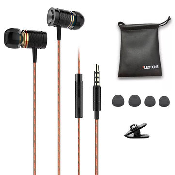 PLEXTONE X53M Sport Magnetic Adsorption Metal Wired Control Earphone Headphone With Mic