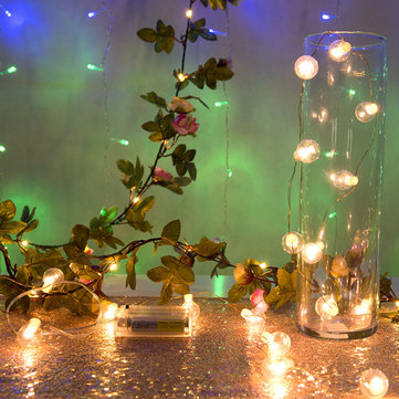 2.2M/5M Flower Garland Battery Operated Copper LED String Light for Christmas Wedding Decor DC4.5V
