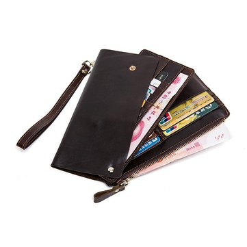 PU Leather Wallet Casual Business Multi-functional Clutch 21 Card Slots Bag For Men