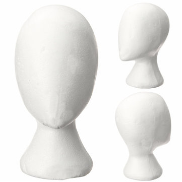 Female Styrofoam Foam Head Model Mannequin Hair Wig Stand Display Reading Glass Holder