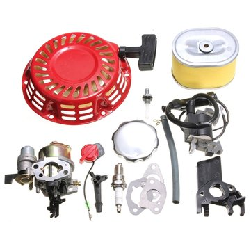 Recoil Carburetor Ignition Coil Spark Plug Air Filter Gas Cap For Honda GX160
