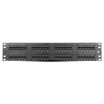 48 Port CAT5e RJ45 110 Network Ethernet Rack Mount 2U 2RU Two Space Patch Panel Connector