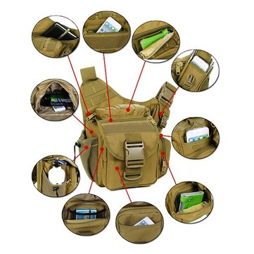 Men Women Waterproof Nylon Camera Bag Outdoor Multi-functional Crossbody Bag Tactical Package