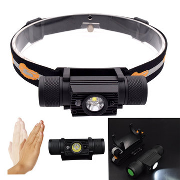 XANES D15 XML2 1000LM LED 5 Modes Smart Sensor USB Charging Interface IPX6 Waterproof Cycling Headlamp 18650