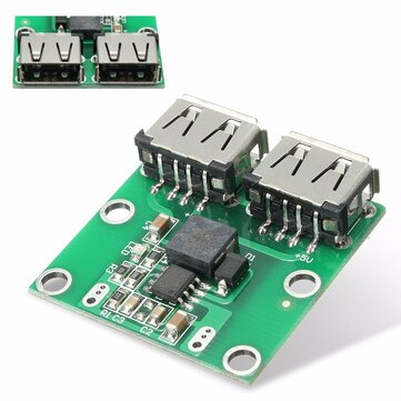 Dual USB Output 6-24V To 5.2V 3A DC-DC Step Down Power Charger Module Converter