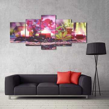 Unframed Home Decor Canvas Print Paintings Wall Art Modern Spa Flower Candles