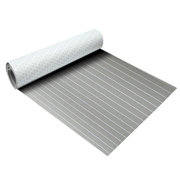 2400x900x6mm EVA Foam Sheet Grey With White Line Teak Boat Decking Pad