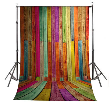 3x5ft 1.5x1m Colorful Wood Wall Floor Studio Prop Photography Backdrop