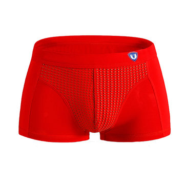 Mens Casual Tourmaline Far infrared Breathable Underwear U Convex Antibacterial Health Care Boxers