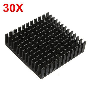 30pcs 40 x 40 x 11mm Aluminum Heat Sink Heat Sink Cooling For Chip IC LED Transistor