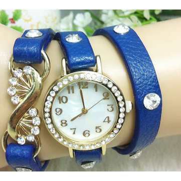 Casual Crystal PU Leather Band Little