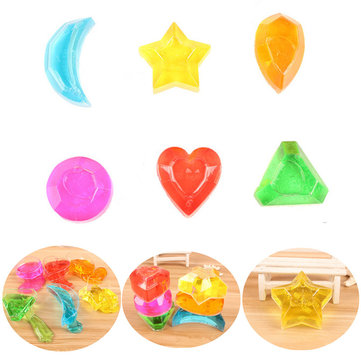 6PCS Crystal Slime Diamond Star Heart Moon Simulated Mud Jelly Plasticine Stress Relief Gift Toy