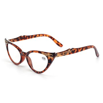 Women Classic Cat Eye Style Leopard Retro Glasses