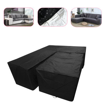 2PCS/Set Waterproof Outdoor Patio Garden L Shape Furniture Rain Snow Table Chair Cover