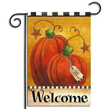 70x100cm Halloween Polyester Pumpkin Star Welcome Flag Garden Holiday Decoration