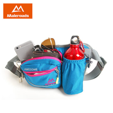 Maleroads Outdoors Waist Bag Sports Running Bag Phone Pouch Travel Storage Case Marathon Bottle Bag