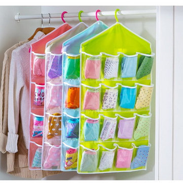 Storage Bag 16 Pocket Over Door Hanging Bag Shoe Socks Toys Hanger Organizer