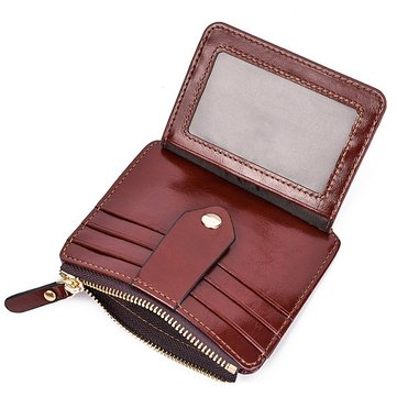 Quality PU RFID Daily Short Wallet Card Holder Coin Purse For Men