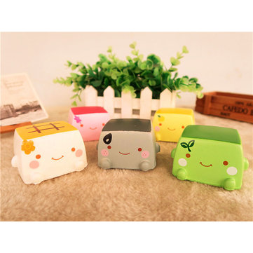 Food Squishy Japanese Tofu 6.5CM Jumbo Toys Kawaii Expression Gift Collection With Packaging
