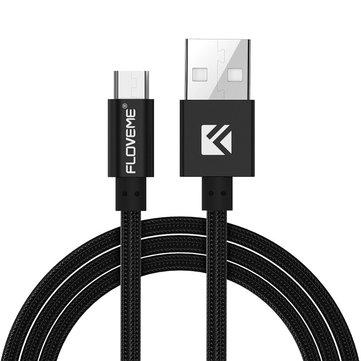 FLOVEME 2A Micro USB Nylon Anti Winding Charging Cable 1M for Samsung S6 S7 Edge Redmi 4 Nexus