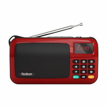 Rolton W405 Portable Mini FM Radio Speaker Music Player TF Card USB