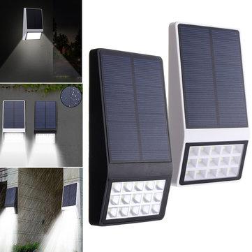 3.7V 1Wソーラーパワード15 LEDウォールランプナイトライトガーデンパティオのパスのための防水