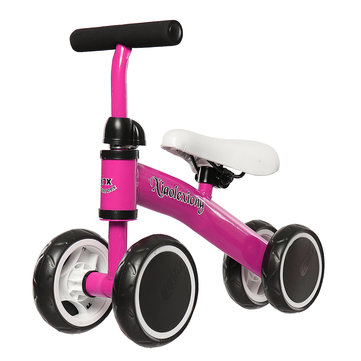 BIKIGHT Mini Kids Bike Scooter Baby No-Pedal Bicycle Kid Balance Bike Adjustable Seat Walk Training Four Wheels Safety