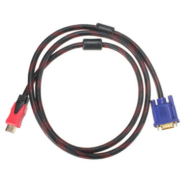 1.5m 1080P High Definition Male to VGA Male Video AV Converter Adapter Cable for DVD HDTV PC