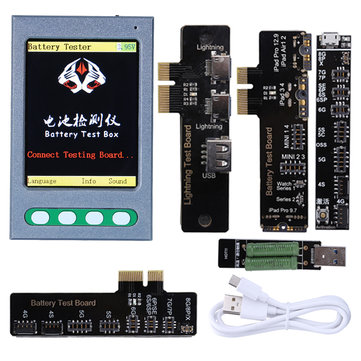 Battery Tester Battery Checker Detector Test Box for iPhone 4G 4S 5G 5S 5SE 6G 6P 6S 6SP 7G 7P 8G 8P X6S IPAD a Key Clear Cycle