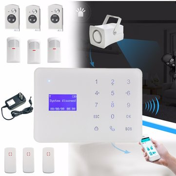 Wireless LCD GSM SMS Home Security Home Fire Burglar Alarm System Auto Dialer Sensor