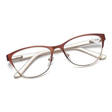Elderly Ultralight Cat Eye Half Frame Reading Glasses Universal Presbyopic Eyeglasses