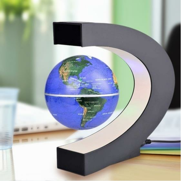 C Shape LED World Map Decoration Magnetic Levitation Floating Globe