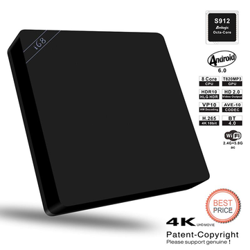 I68 II Amlogic S912 Octa Core 2GB RAM 16GB ROM TV BOX