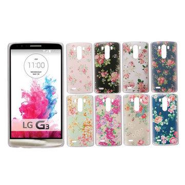 Flower Pattern PC Hard Back Cover Case For LG G3 D855 D850 D851
