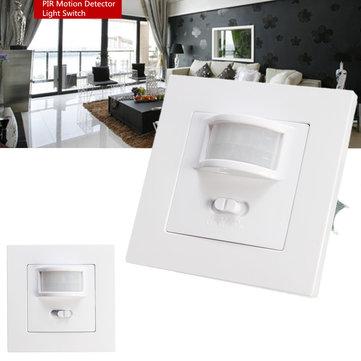 140 degrés Infrarouge PIR Motion Sensor Encastré Ampoule De Mur Ampoule LED Light Interrupteur AC220-240V