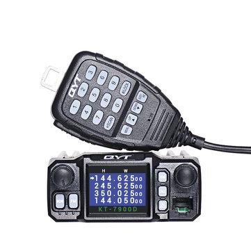 QYT KT-7900D 25W Quad Band Mobile Radio Walkie Talkie 144/220/350/440MHZ 4 Bands FM Transceiver UPGRADE of QYT KT8900 Car Radio