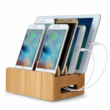 Supporto per tablet multi-dispositivo in bambù Supporto per tablet Stand Holder per tablet Smartphone