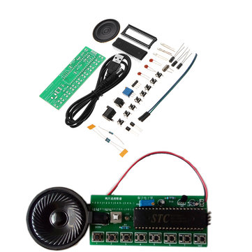 3pcs DIY Electronic Piano Making Kit Single Chip Microcomputer Music Box Module Kit