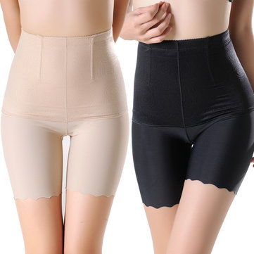 Plus Size High Waist Ice Silk Anti Emptied Shapewear