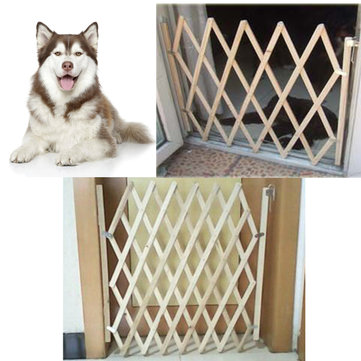 Folding Dog Gate Safety Fence Protection Wood Door Puppy Cat Pet Barrier Safety Fence