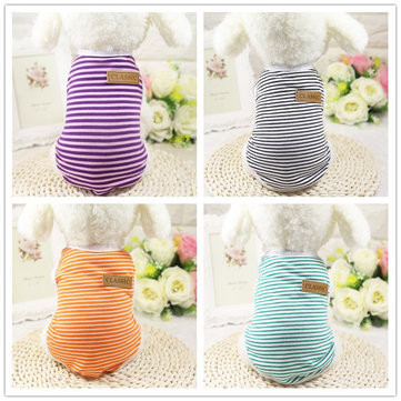 Classic Pet Dog Clothes For Dogs Fashion Dog Clothes Costume Dog Vest Stripes Pet Clothes