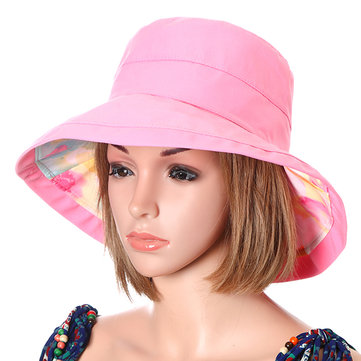 Women Double-side Summer Beach Foldable Visor Hat