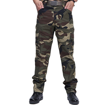 Men's Military Climbing Training Camouflage Trousers Outdoor Multi pocket Leisure Pants
